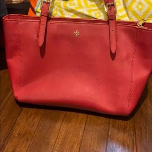 Tory Burch Emerson buckle red tote